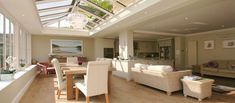 Open Plan Kitchen Dining Living Small Apartments Can Be Fun For Everyone 15 Kitchen Orangery, Conservatory Kitchen, Open Plan Kitchen Dining Living, Dining Room, Orangery Extension, Roof Lantern, Modern Roofing, Cuisines Design, Small Apartments