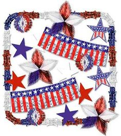 July 4th Decorations   Shiny decorations flood the 4th of July. Visit kardwell.com for more ...