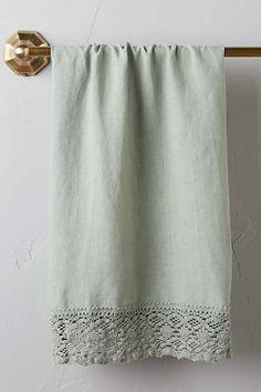 Adalina Linen Hand Towel - anthropologie.com