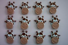 Cute cupcake toppers for babyshower.....not sure yet though!