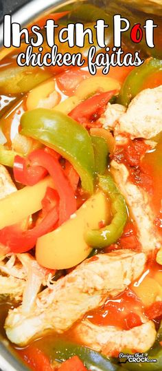 Are you looking for good Instant Pot Recipes? We love these Instant Pot Chicken … Are you looking for good Instant Pot Recipes? We love these Instant Pot Chicken Fajitas and make them ALL the time in our electric pressure cooker! Chicken Fajita Rezept, Chicken Recipes, Ip Chicken, Crock Pot Chicken Fajitas, Mexican Chicken, Chicken And Peppers In Crock Pot, Baked Chicken, Pressure Cooker Chicken, Instant Pot Pressure Cooker