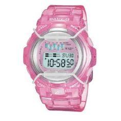 Casio Baby-G Ladies Tanning Timer Watch in Pink Resin BG1001-4AV Casio. $66.60. Save 16%!
