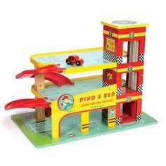Langeweile im Kinderzimmer? Mit dem Spielzeug Parkhaus ist gar keine Zeit dafür, denn hier geht es auf drei Ebenen, zwei Rampen, dem Aufzug und vielen tollen Details mit Vollgas in Richtung Spielspaß! Ein Spielauto ist mit dabei, aber nat&uu