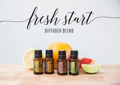 This is the perfect diffuser blend to start your New Year right. Fresh Start Diffuser Blend: 1 drop Lemon, 1 drop Wild Orange, 2 drops Grapefruit, 1 drop Lime