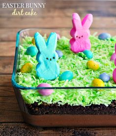 PEEPS Easter Bunny Dirt Cake Recipe - MasterCook recipes appetizers recipes brunch recipes brunch breakfast bake recipes for kids easter recipes easter recipes brunch Easter Deserts, Easter Peeps, Hoppy Easter, Easter Treats, Easter Food, Easter Snacks, Easter 2018, Easter Stuff, Holiday Desserts