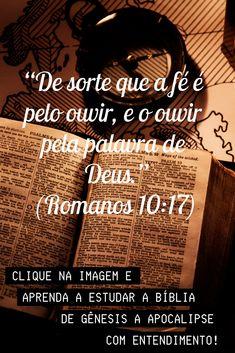 """""""De sorte que a fé é pelo ouvir, e o ouvir pela palavra de Deus."""" (Romanos 10:17). Aprenda no Estudo Bíblico a Entender a Bíblia de Gênesis a Apocalipse. #bibliasagrada #biblia #bibliaonline #versiculododia #salmododia #salmos #versiculos #bibliaonline #estudobíblico #bíbliadeestudo #palavradedeus #versículosbíblicos #mensagembíblica #bíbliasagradaonline #salmo #abíblia #versiculosdabíblia #abíbliasagrada #versículodabíblia #estudosbíblicos Jesus Culture, Maria Jose, Jesus Freak, Nara, Christ, Blessed, Heaven, Faith, God"""