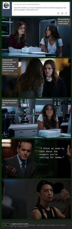 Bad Girl Shenanigans || Jemma Simmons, Skye, Phil Coulson, Melinda May || How to Dad (with Phil Coulson) || #humor #fanedit