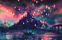 The Lights Art Print - Rapunzel