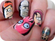 Toxic Vanity: Ser friki y sacarle partido... Futurama Nails