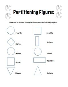 27 best partitioning shapes images 2nd grade math second grade fractions. Black Bedroom Furniture Sets. Home Design Ideas