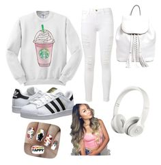 """Mall Trip"" by khaelynnstyles ❤ liked on Polyvore featuring Frame Denim, adidas Originals, Rebecca Minkoff, Beats by Dr. Dre, Nail Pop, women's clothing, women, female, woman and misses"