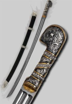 Swords And Daggers, Knives And Swords, Dao Sword, Damascus Steel Sword, Saber Sword, Revolver, Cool Swords, Zombie Weapons, Hand To Hand Combat
