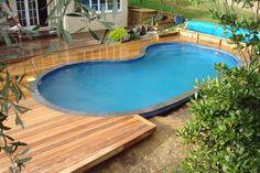 Semi Inground Pool Landscaping Ideas | Swimming Pool Decks above Ground Designs : Tiny Backyard Swimming Pool ...