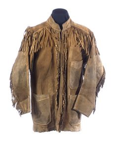 Early 19th c. men's buckskin hunting jacket.  google.com