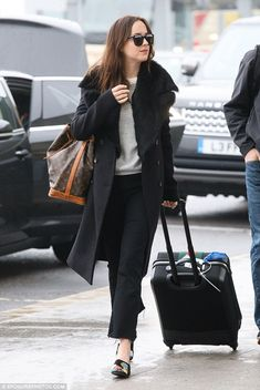 "Feel fashionable in frayed flared jeans like Dakota  Click ""Visit"" to buy #DailyMail"