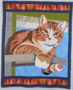 Pippin, original cat quilt by Lisa Fryxell