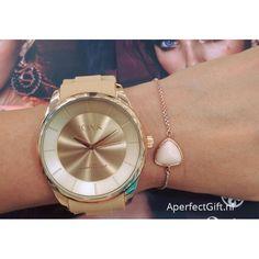 LOISIR minimalistisch dameshorloge met beige siliconen horlogebandje