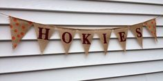 Custom Collegiate Burlap Banner Tailgate Decor by 22FiftyThree