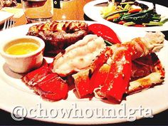 @thekegsteakhouse lobster tail, king crab legs, and good vibes. King Street West. #food #dinner