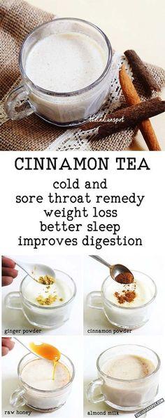 TEA - 1 cup almond milk (you can also use coconut milk or regular cow m., CINNAMON TEA - 1 cup almond milk (you can also use coconut milk or regular cow m., CINNAMON TEA - 1 cup almond milk (you can also use coconut milk or regular cow m. Yummy Drinks, Healthy Drinks, Healthy Snacks, Healthy Eating, Healthy Recipes, Hot Tea Recipes, Vegan Tea Recipes, Healthy Tea Ideas, Tea Snacks