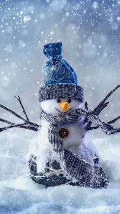 Snowman | Cute winter iPhoneX wallpaper