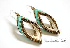 Earrings beaded jewelry peyote