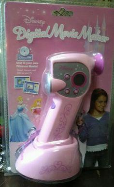 Disney Princess Pink Digital Movie Maker Creator Camera Digital Blue #Disney