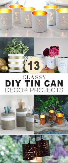 Backyard Garden Vegetable 13 Classy DIY Tin Can Projects Easy DIY tin can projects that look classy not cheap! Garden Vegetable 13 Classy DIY Tin Can Projects Easy DIY tin can projects that look classy not cheap! Tin Can Crafts, Crafts To Sell, Diy Crafts, Sell Diy, Decor Crafts, All You Need Is, Mason Jar Crafts, Mason Jars, Bottle Crafts