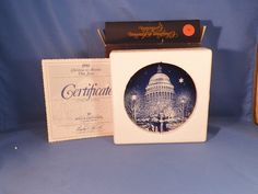 1990 Christmas In America by Bing & Grondahl MIB With Certificate by LikeNewShop on Etsy Christmas In America, Certificate, Decorative Plates, Porcelain, China, Unique Jewelry, Handmade Gifts, Etsy, Vintage