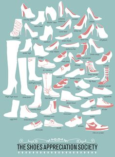 Glossary of Shoes  #Learn #English #Vocabulary #ESL #EFL