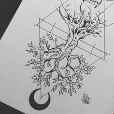 geometrical tree tattoo - Google Search