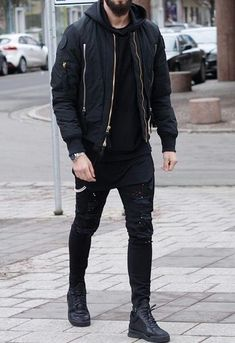 Mens Casual Dress Outfits, Black Outfit Men, Mens Casual Suits, Swag Outfits Men, Winter Outfits Men, Leather Jacket Outfits, Best Mens Fashion, Fashion Menswear, Fashion Tips