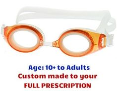 4b09d47318  10+ yrs to Adults  M2P Prescription Swim Goggles (Custom Made to  Prescription) - Orange
