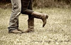 Country couple #boots #love #cowgirl #cowboy Mandy Rose Photography