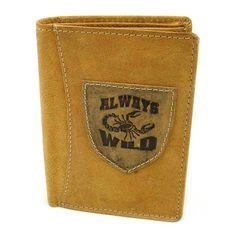 Pánská kožená peněženka hnědá - peněženky AHAL