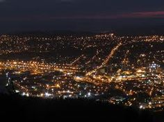 City Lights - Dunedin, New Zealand Dunedin New Zealand, Lake Wanaka, Living In New Zealand, St Kilda, Journal Design, Night City, City Lights, Google Images, Paris Skyline