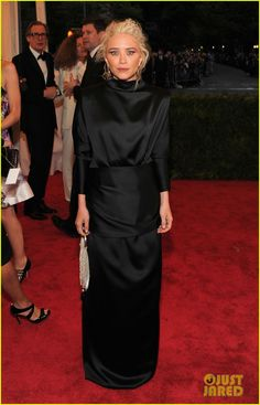 Mary-Kate Olsen in her own label, The Row at the 2012 Met Ball