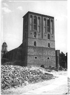 Berlin, Nikolaikirche, Ruine, Trümmer |11.7.1951