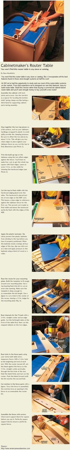Cabinetmaker's Router Table
