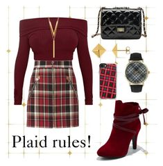 """Plaid and 1000 followers!!🎉🎉"" by cecilvenekamp ❤ liked on Polyvore featuring Tempaper, rag & bone, WithChic, Olivia Pratt, BERRICLE, Allurez and Casetify"
