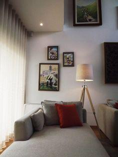 Sala Candeeiro de pé / chaise-longue / almofadas decorativas