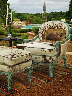 Vintage + country = cowgirl chic #DreamHome #chairs #country