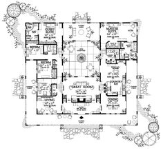 Ranch Style House Plan - 4 Beds 2 Baths 3200 Sq/Ft Plan #481-7 ...