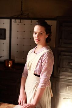 Lady Sybil learns how to cook so she can start her nursing course. #DowntonAbbey