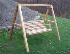 (CLICK IMAGE TWICE FOR PRICING AND INFO) #porch #swing #swings #furniture #deck #porchswing #porchswings #outdoor #outdoorfurniture #patio - SEE MORE Patio Swings at zPatioFurniture.com - 5′ Red Cedar American Classic Porch Swing with Stand « zPatioFurniture.com