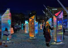 downtown montreal transformed into giant kaleidoscope by RAW
