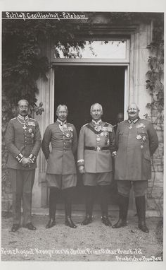 Wilhelm, Eitel, August and Oskar (sons of Wilhelm)