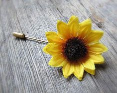 Sunflower Pin for Clothes Jackets Backpacks Hats- Lapel Boutonniere for Men Wedding for sale Wedding Gifts For Groomsmen, Wedding Men, Groomsman Gifts, Sunflower Necklace, Sunflower Jewelry, Couple Jewelry, Kids Jewelry, Bridal Jewelry Sets, Wedding Jewelry