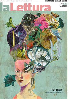 """Artist Olaf Hajek (Germany: 1965) -  My cover for """"La Lettura"""" from the """"Corriere della Sera"""""""