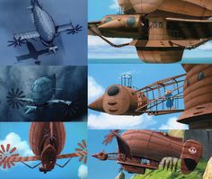 "The Foundry Community :: Forums :: WIP - Fantasy style flying pirate ship from H.Miyazaki`s ""Flying castle Laputa"""
